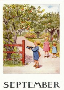 Elsa Beskow Postcard | September