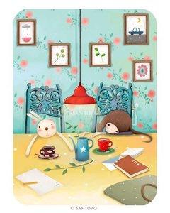 Santoro Eclectic Collection Double Postcard Kori Kumi Cards | Sleepy Sundays
