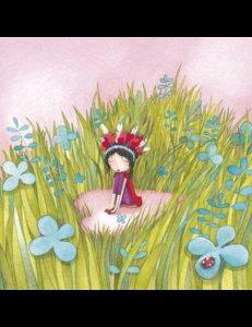 Mila Square Postcard | Un coeur dans les hautes herbes