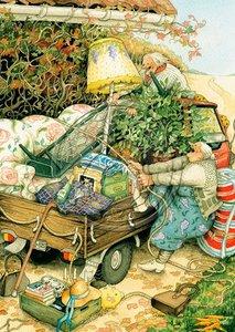 Inge Look Nr 16 Postcard | Old Ladies Aunties