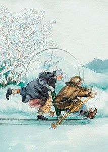 Inge Look Nr. 02 Postcard   Old Ladies Aunties