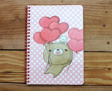Honey Bear Spiral Ring Binder Notebook