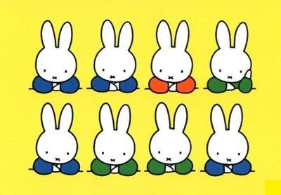 Nijntje Miffy Postcards   8 Nijntjes