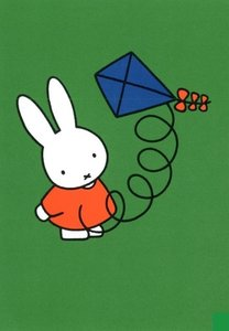 Nijntje Miffy Postcards | Nijntje met vlieger