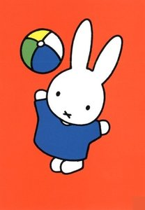 Nijntje Miffy Postcards | Nijntje gooit bal