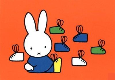 Nijntje Miffy Postcards | Nijntje met schoenen