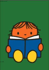 Nijntje Miffy Postcards | Daan leest een boek