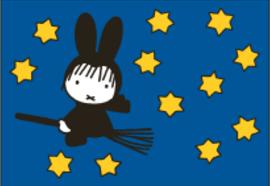 Nijntje Miffy Postcards   Heks op bezemsteel