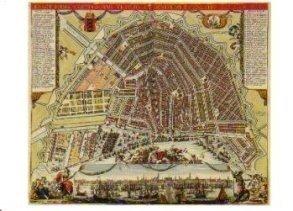 Postcard | Plattegrond van Amsterdam