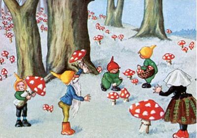 Postcard | Vintage Gnome