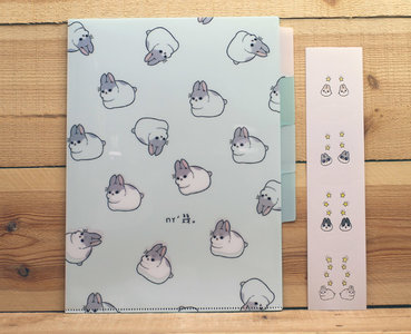 Machiko Bunny Collection A4 Plastic File Folder