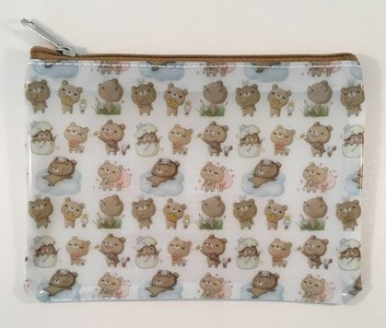 Honey Bear Small Clear Zipper Bag