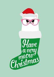 Studio Inktvis Postcard   Have a Very Meow Christmas