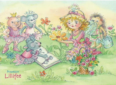 Princess Lillifee Postcard With Glitter | In the garden