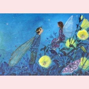 Postcard Daniela Drescher | Little Fairy Can't Sleep