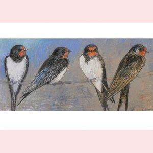 Postcard Loes Botman | Swallows