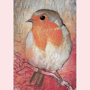 Postcard Loes Botman | Robin II