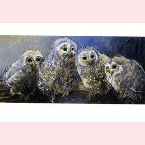Postcard Loes Botman | Four Owlets