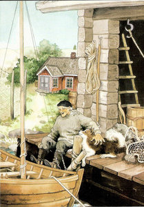 Inge Look Nr. 111 Postcard Garden   Boat