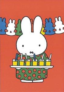 Nijntje Miffy Postcards   Tante Trijn met limonade en slingers