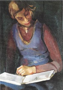 Museum Cards Postcard | Girl Reading