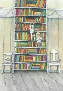 Museum Cards Postcard   Boekenkast, Marit Törnqvist