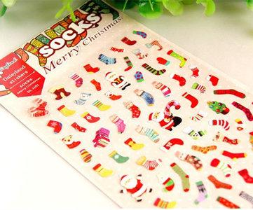 Daisyland Seal Sticker | Merry Christmas Socks