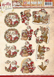 Pushout - Yvonne Creations - Holly Jolly - Santa