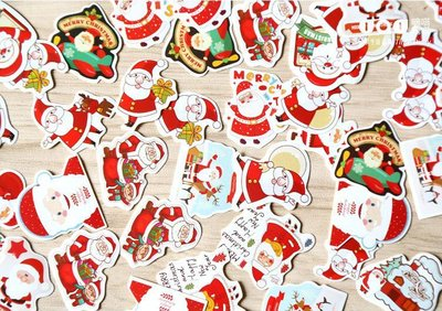 Sticker Flakes Box | Santa Christmas