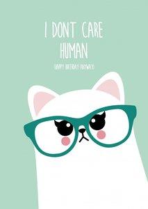 Postcard Studio Inktvis | Grumpy Cat