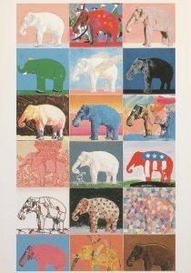 Postcard | Paul Giovanopoulos (1939) - Elephant II