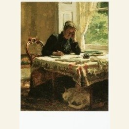 Postcard   Lady Writing