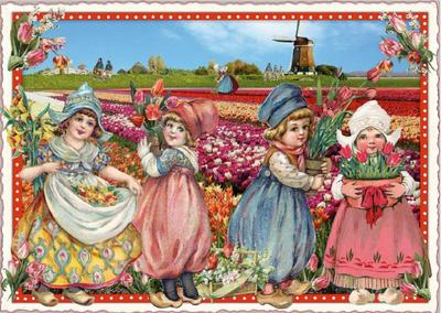 Postcard Edition Tausendschoen | Holland - Flower Field