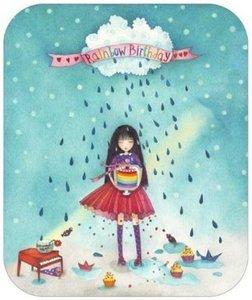 TV Art Postcard Mila | Rainbow Birthday