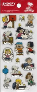 Snoopy and his Friends Puffy Clear Epoxy Stickers   Peanuts