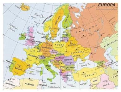 Postcard | Kaart Europa
