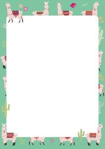 A5 Letter Paper Pad crissXcross   Lamas
