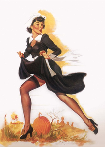Postcard Pin Up | Halloween Nun