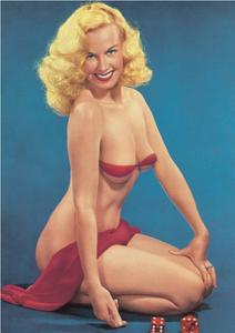 Postcard 1950s Pin Up Photograph | Dice