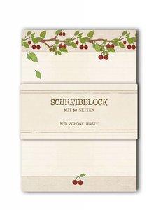 A5 Letter Paper Pad TikiOno   Cherries