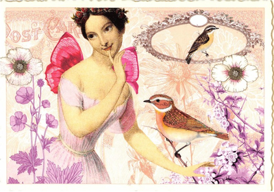 Postcard Edition Tausendschoen | Fairy with Bird