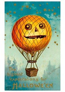 Victorian Halloween Postcard | A.N.B. - The highest expectations for halloween