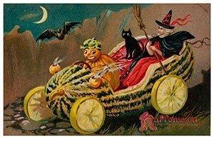 Victorian Halloween Postcard   A.N.B. - Halloweentafereel