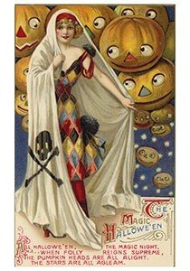 Victorian Halloween Postcard | A.N.B. - Magic halloween