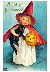 Victorian Halloween Postcard | A.N.B. - A jolly halloween