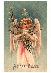 Victorian Postcard | A.N.B. - A Happy Easter