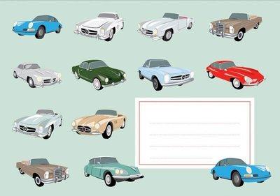 Envelope Set C6 - Classic Cars (crissXcross)