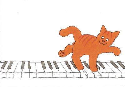Dikkie Dik Postcards   On the piano