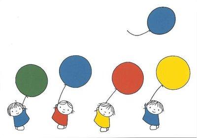 Nijntje Miffy Postcards | Ballonnen