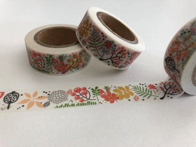 Autumn Washi Masking Tape | Berries and Leaves